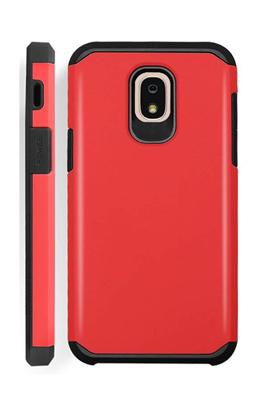 Samsung Galaxy J3 Rugged Skin Red